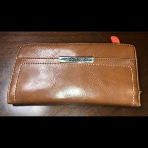 RELIC by FOSSIL Coral + Brown Wallet Faux Leather